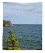 Split Rock Lighthouse 92 Fleece Blanket