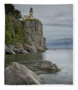 Split Rock Lighthouse In Northern Minnesota Fleece Blanket