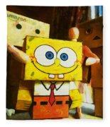 Spongebob Always Loves The Group Hugs Fleece Blanket