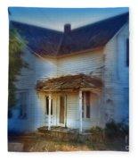 Spooky Old House Fleece Blanket