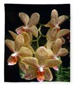 Spotted Orchids Fleece Blanket