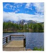 Sprague Lake Fleece Blanket