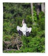 Spread Stork Fleece Blanket