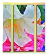 Spring Again Triptych Series Fleece Blanket