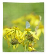 Spring Azure And Friend Fleece Blanket