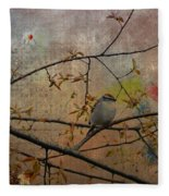 Spring Bird Fleece Blanket