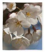 Spring Blooming Yoshino Cherry Tree Fleece Blanket