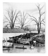 Spring Flood, 1903 Fleece Blanket