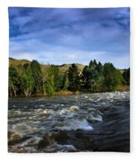 Spring Flow Fleece Blanket