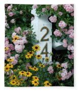 Spring Flowers And Fencepost Fleece Blanket