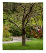 Spring Garden Landscape Fleece Blanket