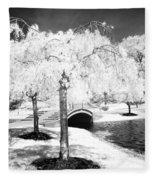 Spring In Infrared Fleece Blanket
