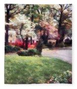 Spring In The Neighborhood Fleece Blanket