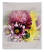 Spring Mix Fleece Blanket