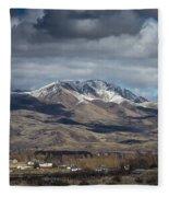 Spring Snow Fleece Blanket