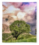 Spring Storm In Tuscany Fleece Blanket