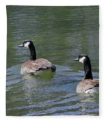 Spring Thaw Water Geese Fleece Blanket