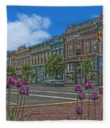 Spring Tulips Downtown Georgetown Fleece Blanket