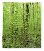 Spring Woods Fleece Blanket