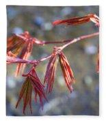 Springtime Japanese Maple Leaves Fleece Blanket