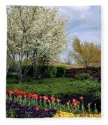 Sprung Spring Fleece Blanket