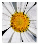 Square Daisy - Close Up Fleece Blanket