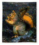 Squirrel At Riverfront Park Fleece Blanket