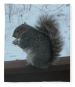 Squirrel Snack Fleece Blanket