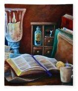 Srb Candlelit Library Fleece Blanket