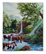 Srb Wild Horses Fleece Blanket