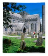 St Canices Cathedral &, Round Tower Fleece Blanket