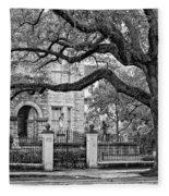 St. Charles Ave. Monochrome Fleece Blanket