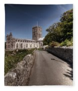 St Davids Cathedral Pembrokeshire 2 Fleece Blanket