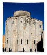 St. Donatus Church In Zadar Fleece Blanket