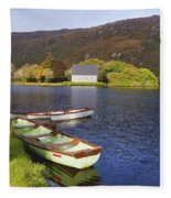 St. Finbarres Oratory And Rowing Boats Fleece Blanket