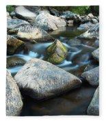 St Francis River At Dusk I Fleece Blanket