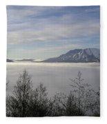 St Helens Above Clouds Fleece Blanket