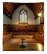 St John's Church Altar - Filey  Fleece Blanket