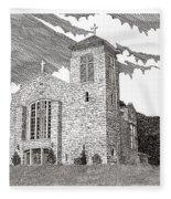 St. Joseph Apache Cathedral Fleece Blanket