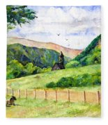 St. Kevin's And Wicklow Mountians Fleece Blanket