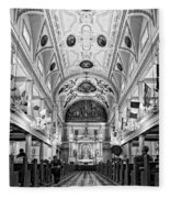St. Louis Cathedral Monochrome Fleece Blanket