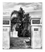St Louis Cemetery Gate - New Orleans Fleece Blanket
