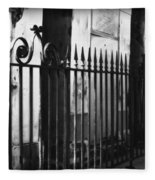 St Louis Cemetery Number One Tombs And Wrought Iron Fleece Blanket