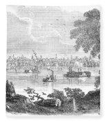 St. Louis, Missouri, 1854 Fleece Blanket