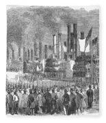 St. Louis: Steamboats, 1857 Fleece Blanket