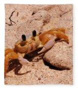 St. Lucia Crab On Beach Fleece Blanket