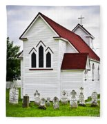 St. Luke's Church And Cemetery In Placentia Fleece Blanket