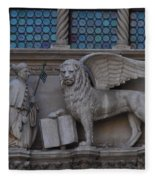 St. Marco And The Lion Fleece Blanket
