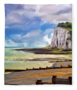St. Margaret's Bay At Dover Fleece Blanket