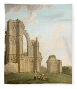 St Mary's Abbey -york Fleece Blanket